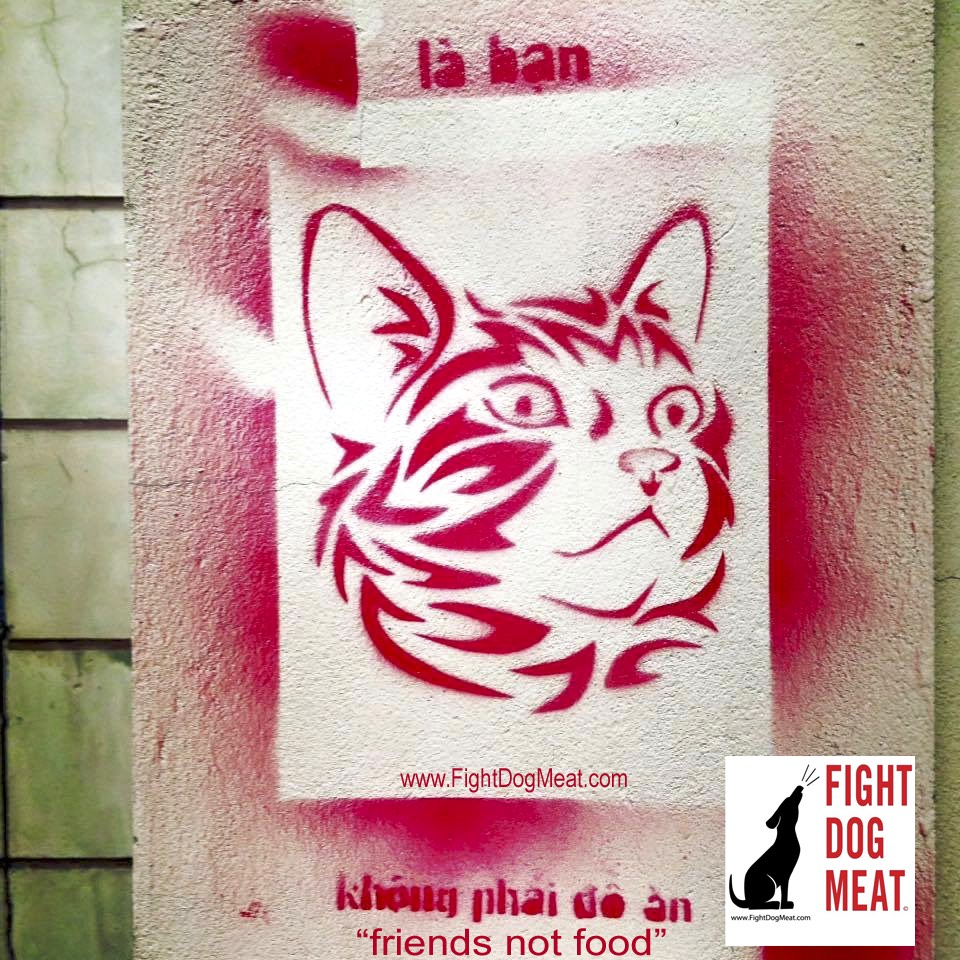 Vietnam: Anti Cat Meat Protest Appears On Walls